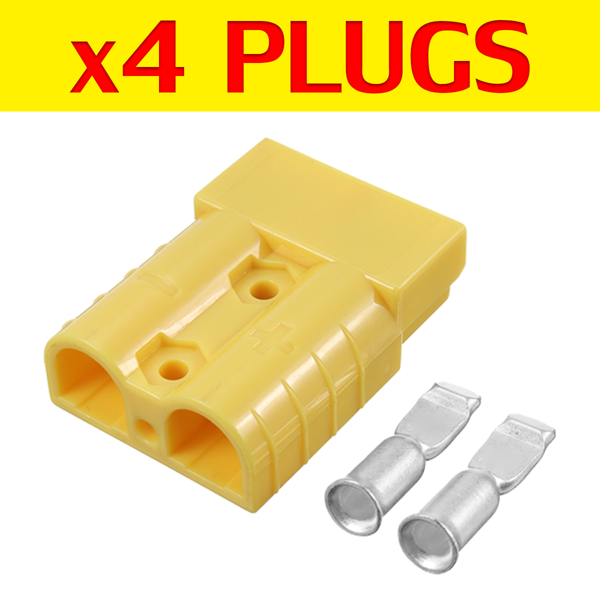 4Pcs 50A 600V 6AWG Anderson Style Power Connector Plug