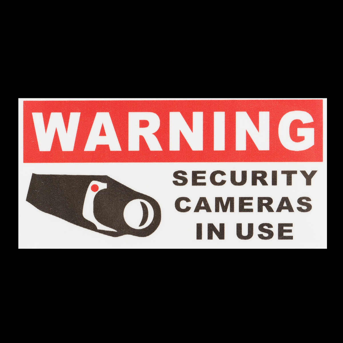 8Pcs Security Camera In Use Self-adhensive Stickers Safety Signs Decal Waterproof