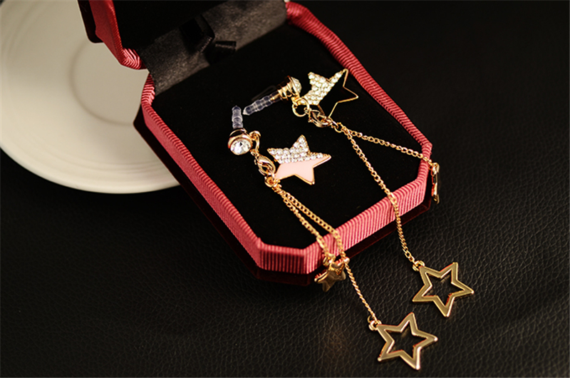Universal 3.5mm Stars Decoration Dirt-proof Plug for Samsung Xiaomi HUAWEI