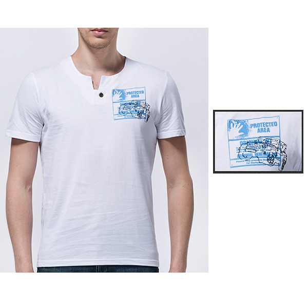 Mens Summer Outdoor Casual Printing O-neck Thin Short Sleeve T-shirt
