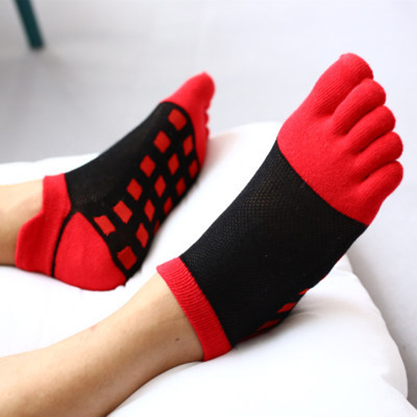 Cotton Invisible No Show Toe Socks Low-Cut Ankle sock