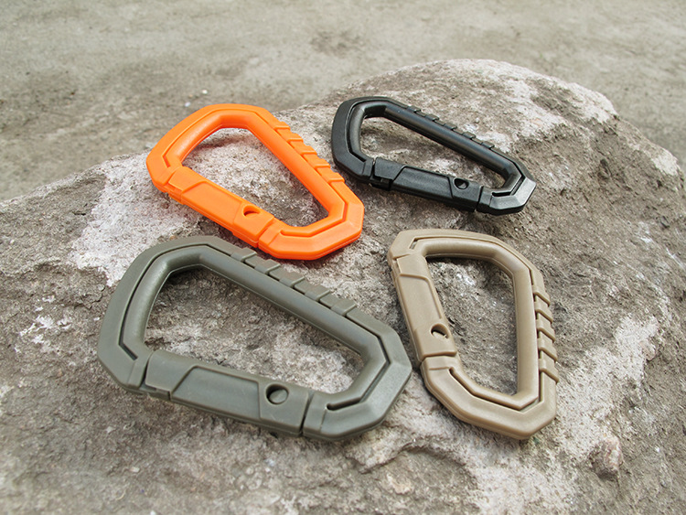 Plastic Light Weight Carabiner Quickdraw Keychain Backpack Hanging Buckle EDC Tool