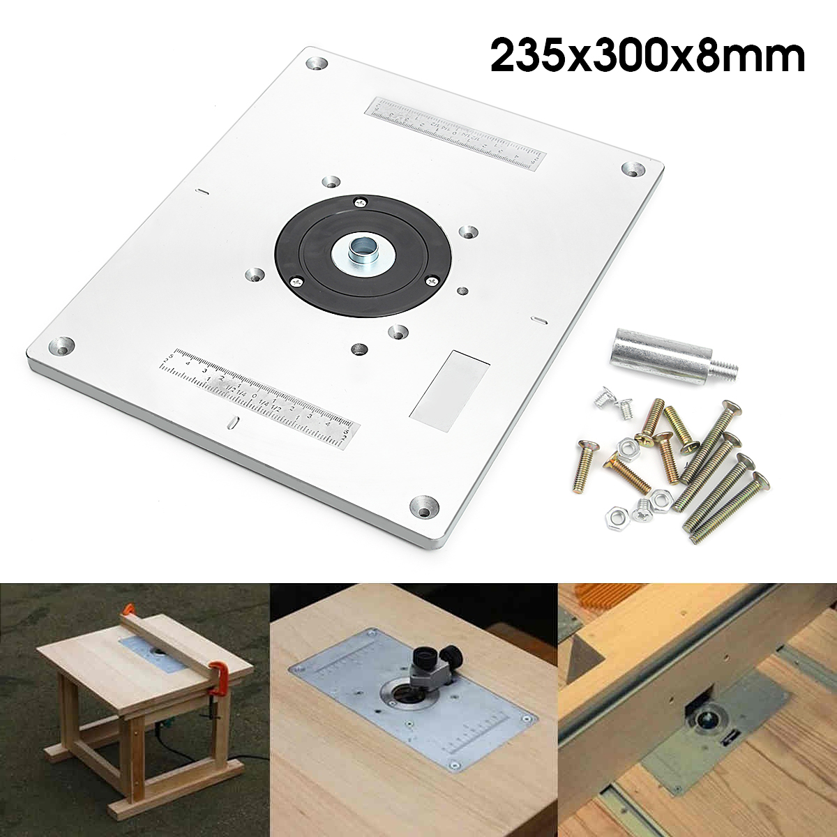 Aluminum router table insert plate 235mm x 300mm x 8mm for aluminum router table insert plate 235mm x 300mm x 8mm for woodworking benches greentooth