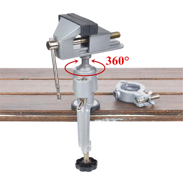 360 Degree Rotation Aluminum Alloy Table Bench Vice Workbench Clamp Repair Tool
