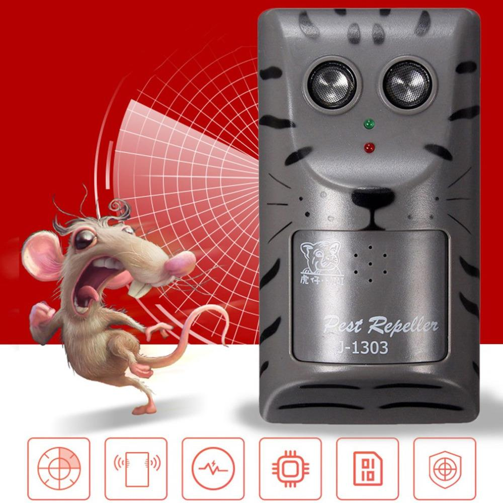 Double Head Electronic Ultrasonic Pest Control Repeller Mouse Insect Rodent Repeller Household High Power Animal Repeller