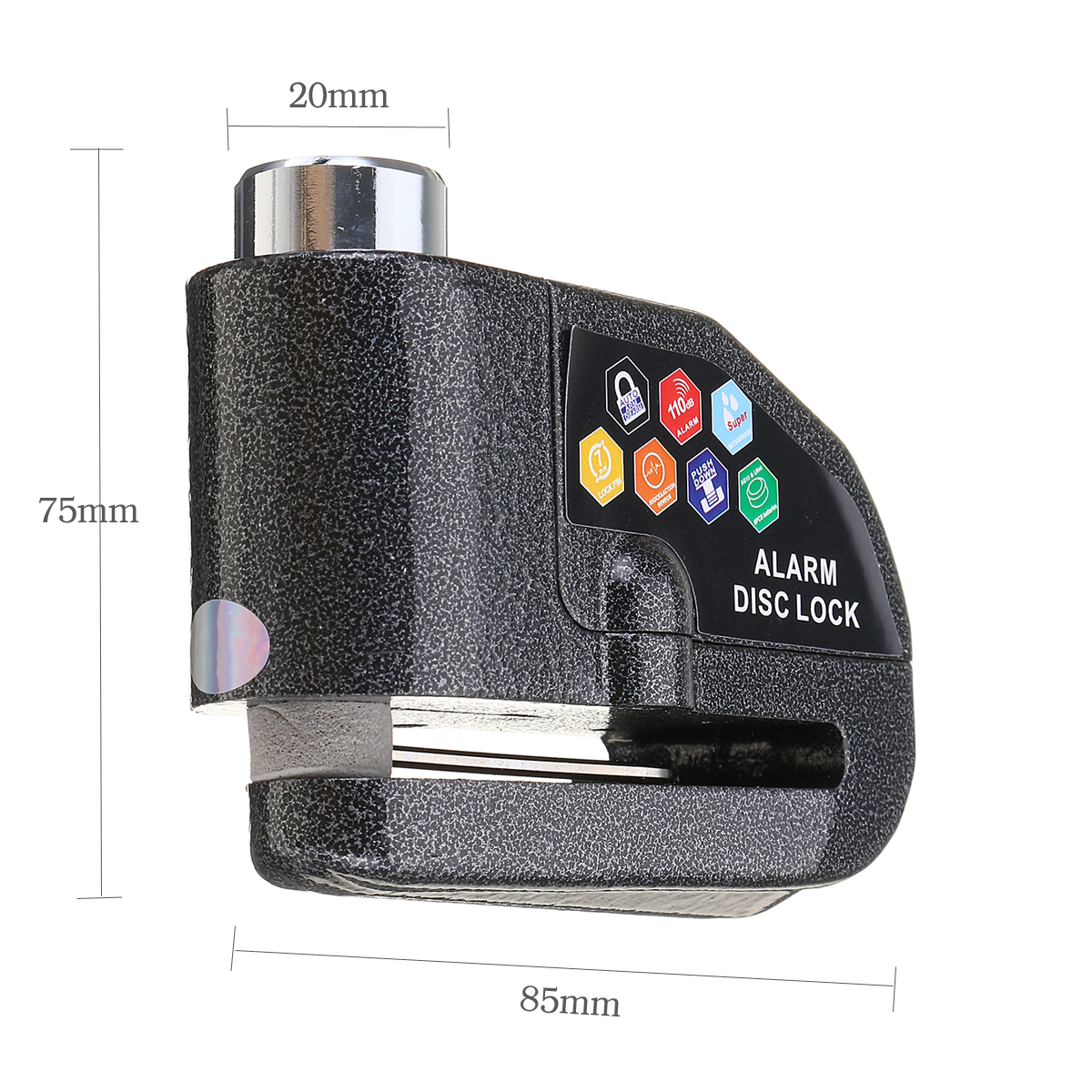 110db Disc Brake Lock Motorcycle Anti-theft Loud Security Alarm For Bike Scooter