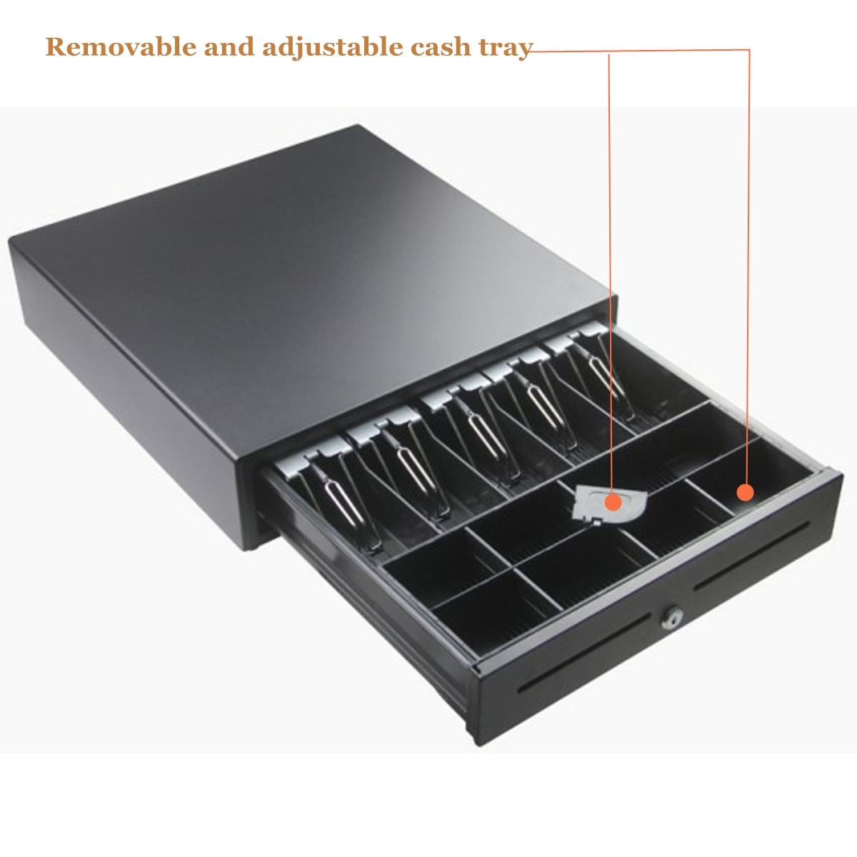 5 Bills & 8 Coins Manual Cash Box Drawer Register Money Coin Collecting Insert Storage Tray Kits