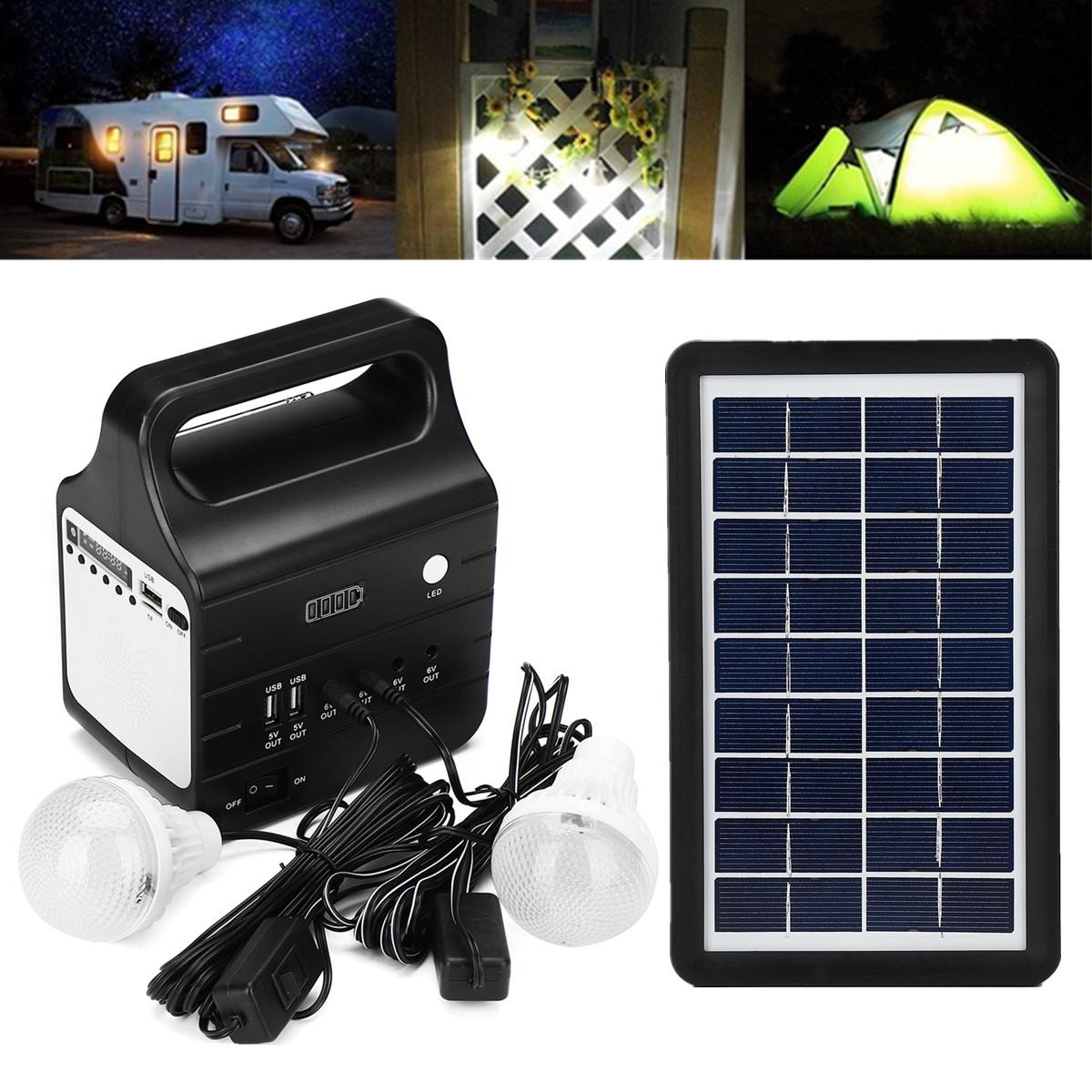 Solar Powered System Generator Energy Portable Home Solar Energy Power Generation Lighting System