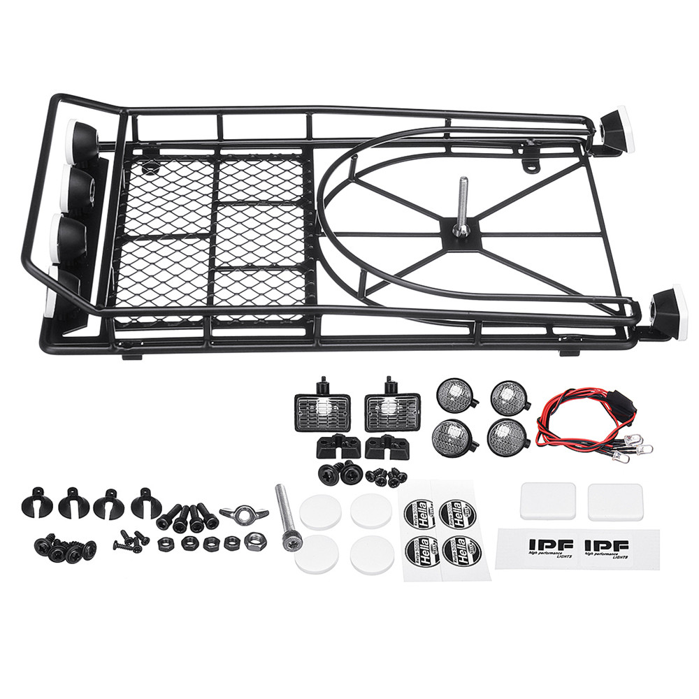 Metal luggage Roof Rack With Tire Holder and LED light