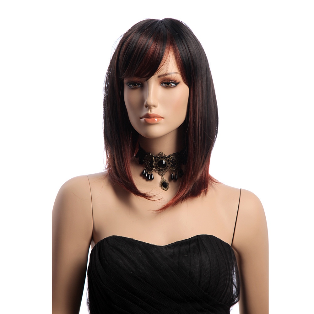 16 Inches Medium Long Straight KANEKALON Synthetic Hair Wig