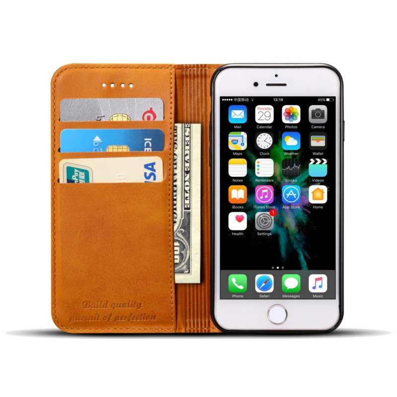 Bakeey Magnetic Flip Wallet Card Slot Case For iPhone 8/iPhone 7