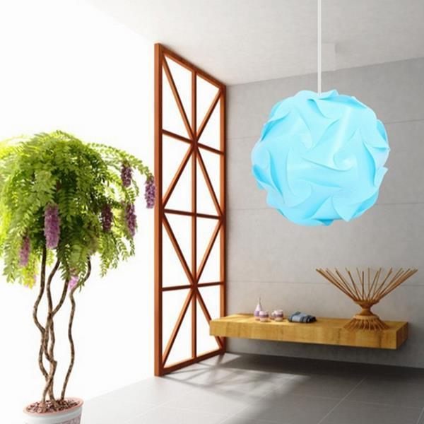 32CM 30PCS Elements Modern IQ Jigsaw Pendant Light Home Hanging Xmas Ceiling Lampshade