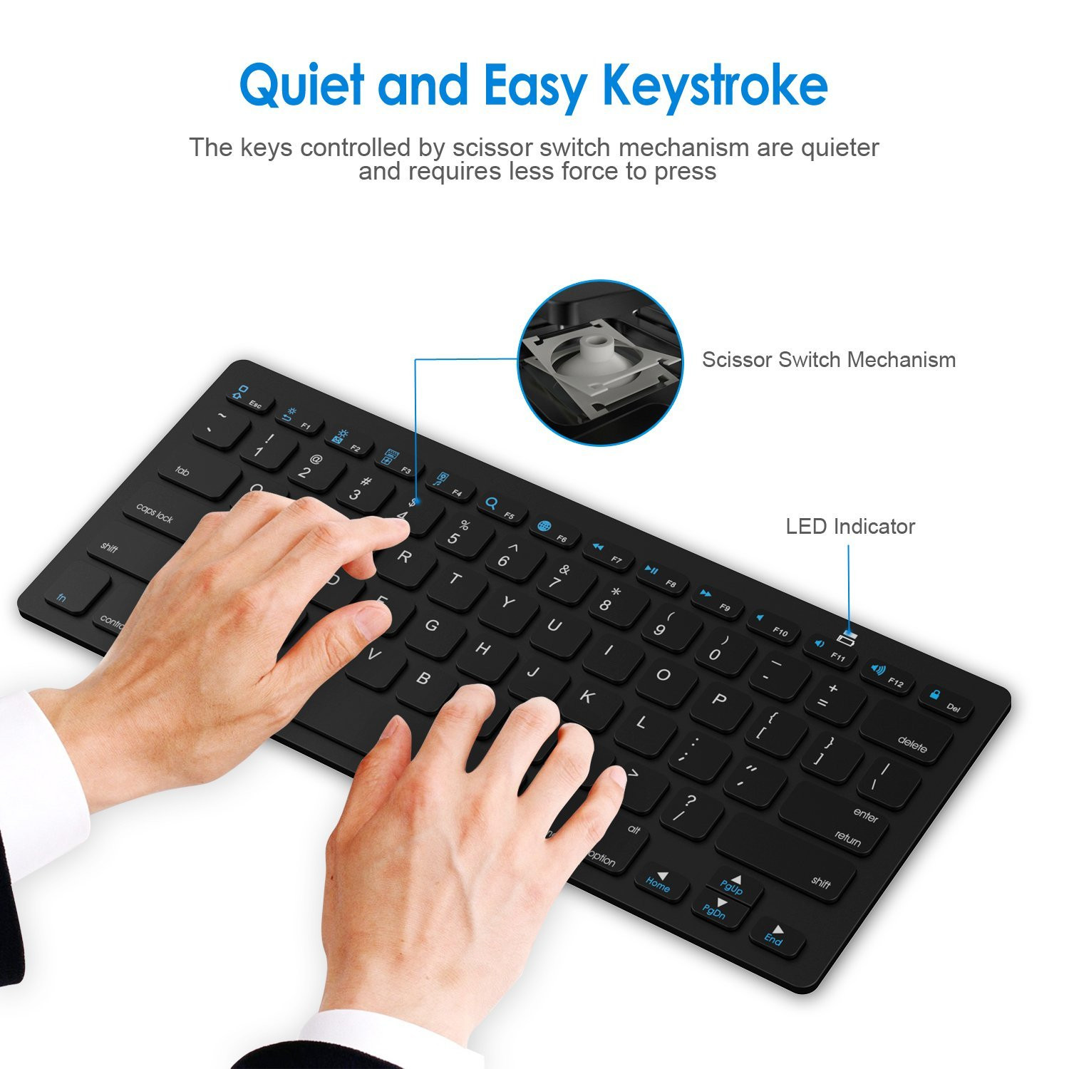 X5 78 Keys Slim bluetooth 3.0 Wireless Keyboard For iOS Android Windows Devices iPhone iPad Macbook Samsung