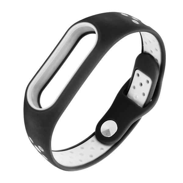 Bakeey™ Double Color Polka Dot Replacement Silicone Wrist Strap for XIAOMI Miband 2