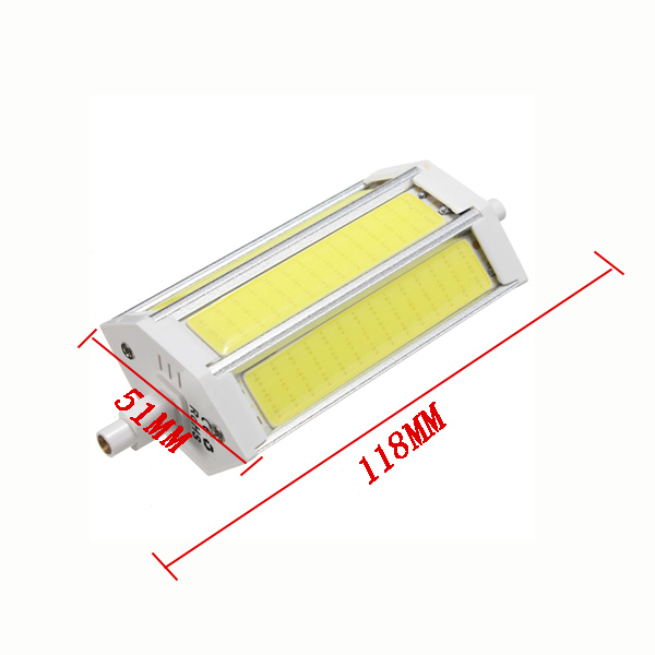 Dimmable R7S 118MM 15W COB SMD White/Warm white LED Flood Light Spot Corn light Lamp Bulb AC 85-265V