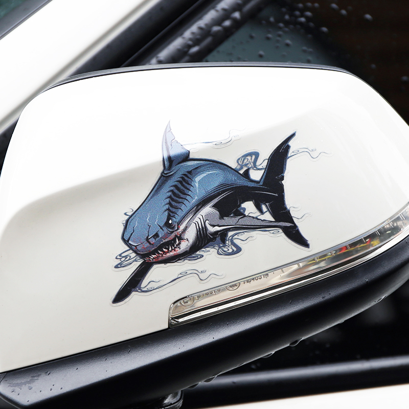 Shark and Bear Reflective Warning Label Car Stickers Auto Truck Vehicle Motorcycle Decal