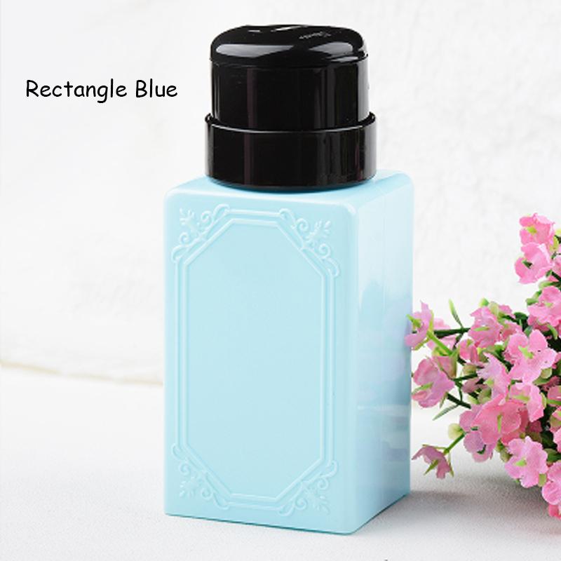 Empty Nail Polish Remover Liquid Press Pump Dispenser Bottle 200ml