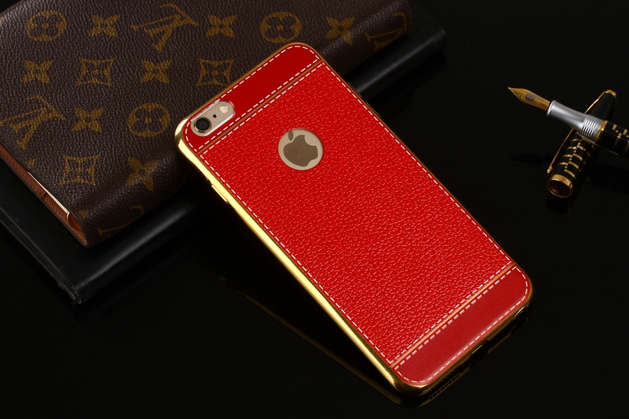 Bakeey™ Litchi Grain Plating TPU Silicone Ultra Thin Shockproof Cover Case for iPhone 6&6s 4.7 Inch