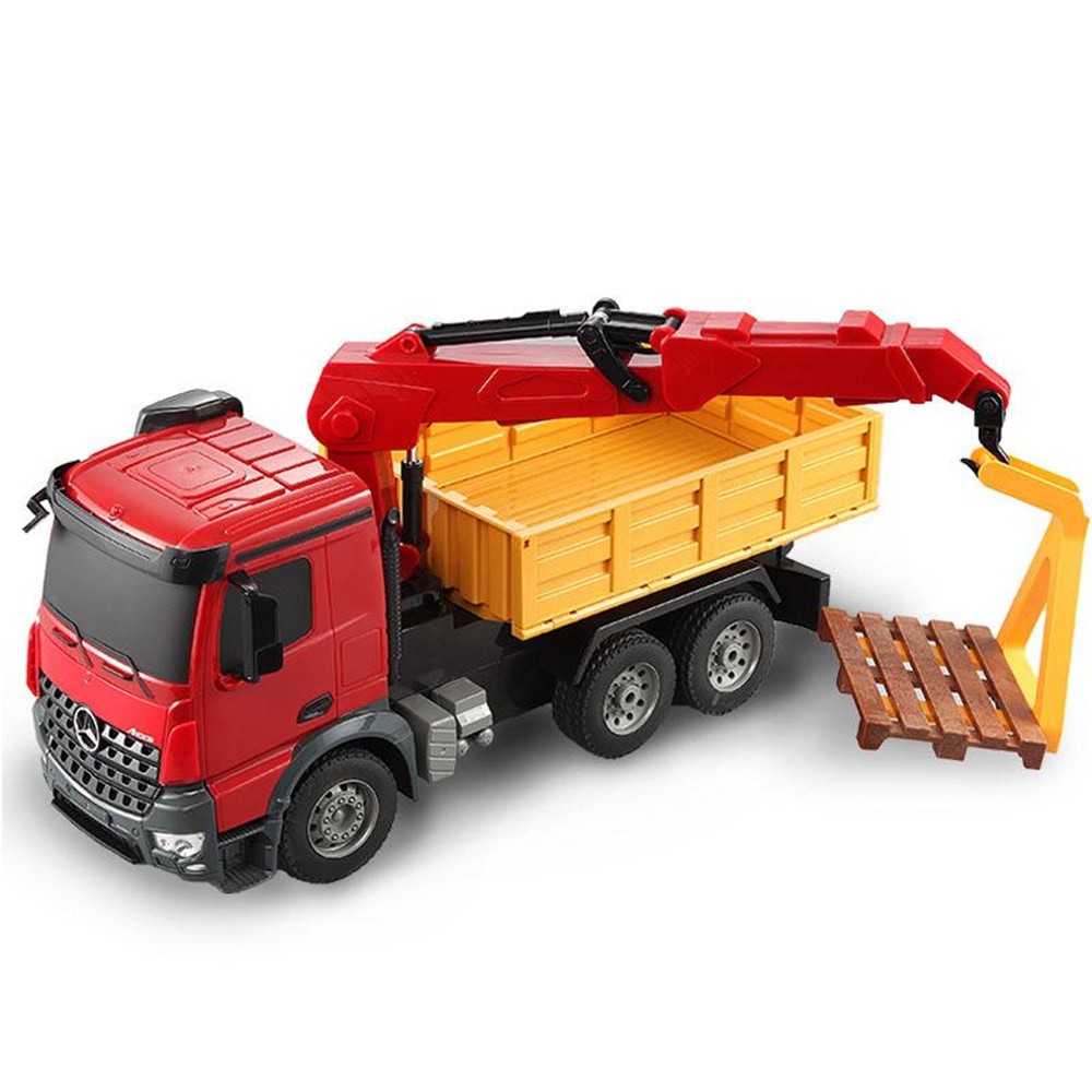 Double Eagle E565-003 1/20 2.4G Mercedes Arocs Rc Car Engineering Truck Crane W/ Light Sound Toys