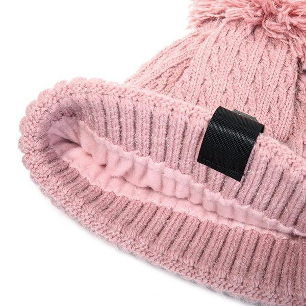 Knitted Warm Pom Pom Beanie Cap