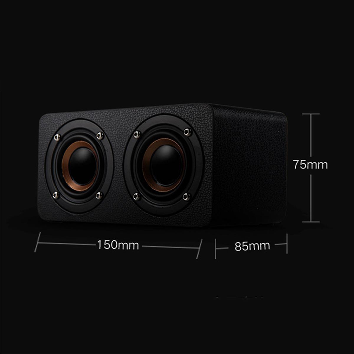 M5 10W Mini Retro Wooden Wireless Bluetooth Speaker Dual Loudspeaker