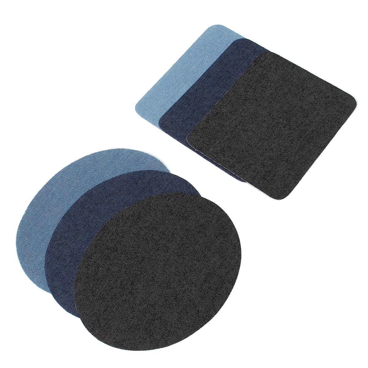 12Pcs Assorted Iron on Jeans Denim/Twill/Cotton Patches Repair Tool Elbow Knee Patch Sewing