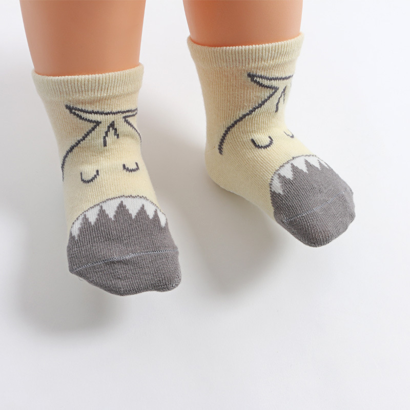 Toddlers Pure Cotton Socks Cute Animal Cartoon Middle Tube Baby Children Socks