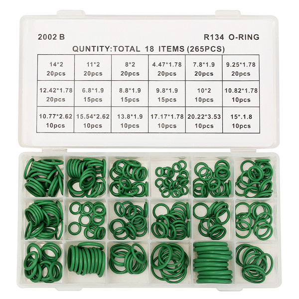 265Pcs R134 Air Conditioning O-Ring Rubber Rings Waterproof Washer