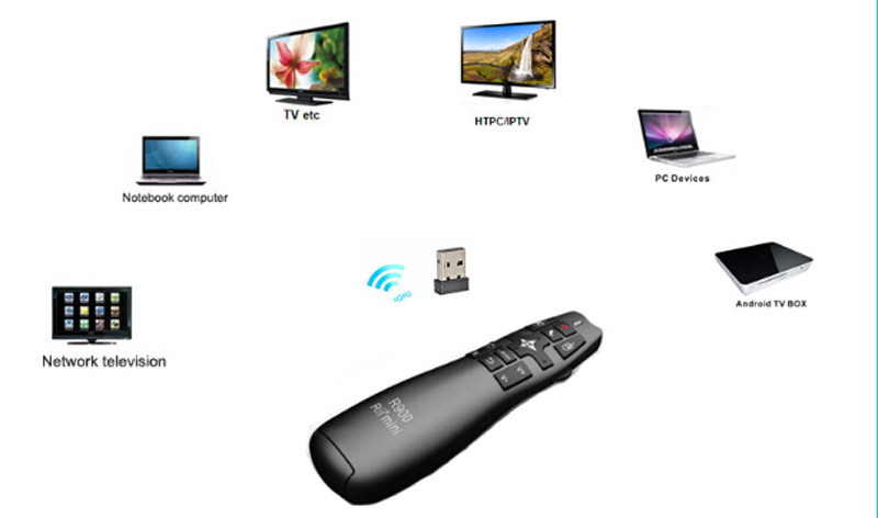 Rii R900 2.4G Wireless Air Mouse Laser Pointer Powerpoint Presenter for Android TV Box PC