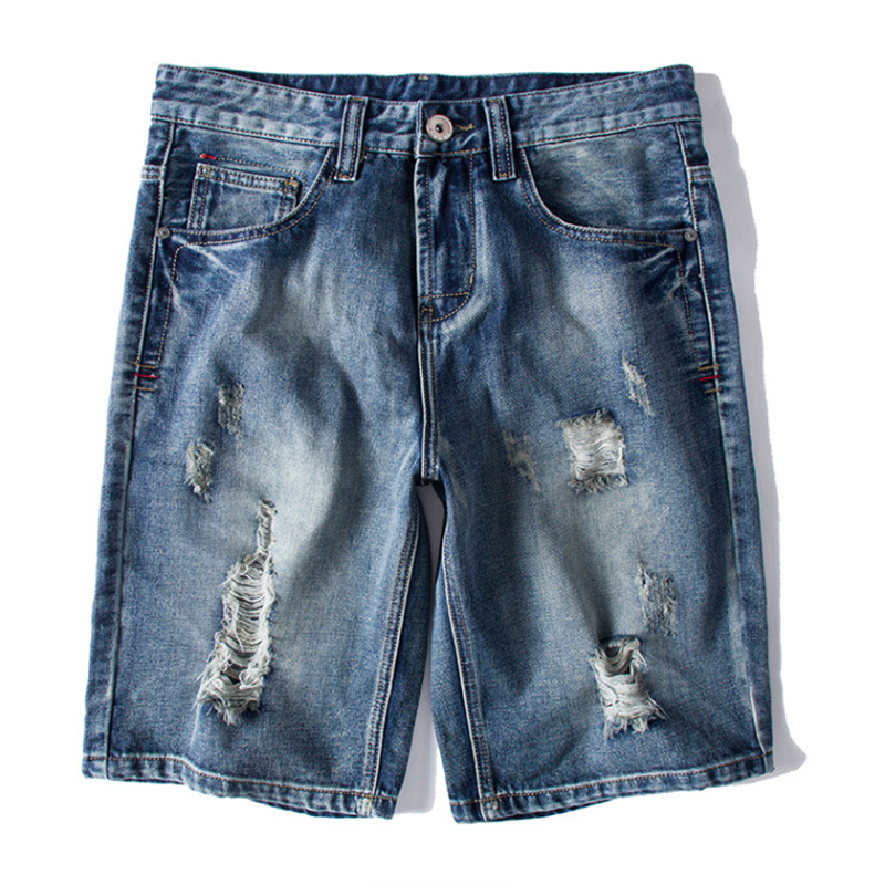 Summer Plus Size Retro Nostalgic Ripped Holed Short Jeans