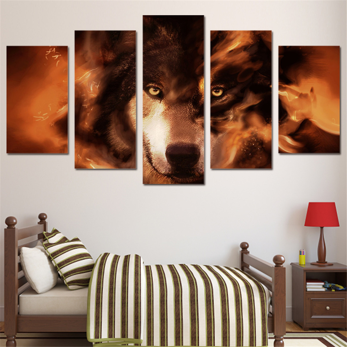 Unframed Wolf Animal Modern Art Canvas Paintings Picture Print Home Wall Decor