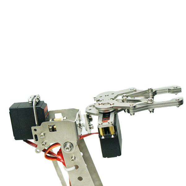 Stainless Steel Manipulator 5DOF Rotating Assembled Robot Arm Clamp Claw Mount With 5pcs Servo