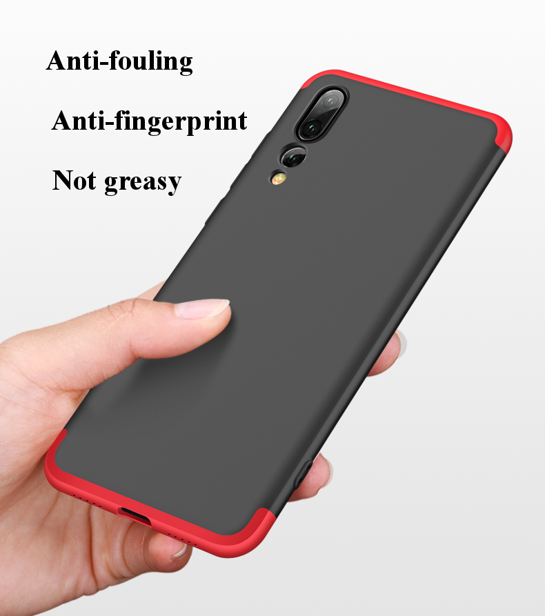 Bakeey™ 3 in 1 Double Dip 360° Full Protection PC Protective Case For Huawei P20 Pro