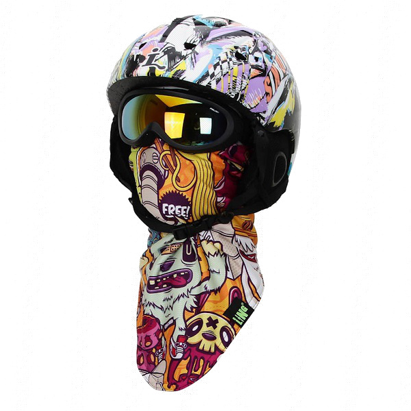 Unisex Pirates 3D Printed Triangular Scarf Winter Ski Motorcycle Warmer CS Face Mask