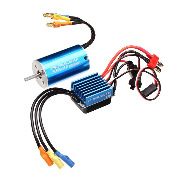 2845 Motor 3100/3930KV Sensorless Brushless Waterproof 35A ESC RC Car Parts