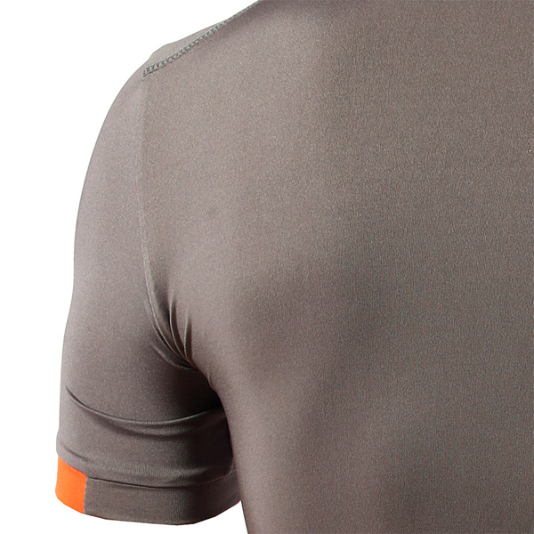 Mens Round Neck Short Sleeve Jersey Slim Quick Drying T-shirt Printed Sports Training Tees