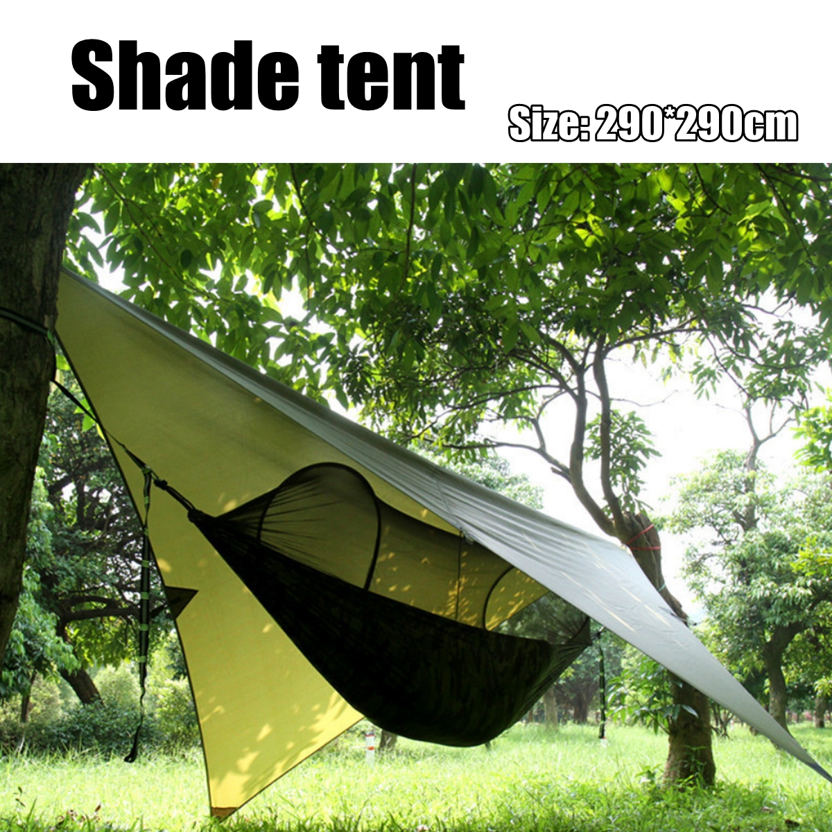 Outdoor Camping Tent Sunshade Canopy Waterproof Anti-UV Beach Hammock Awning Shelter Tarp