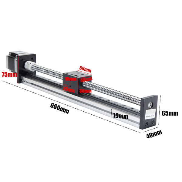 500mm Linear Actuator 1605 Ball Screw Motion Guide Rail with 57 Motor for CNC Router