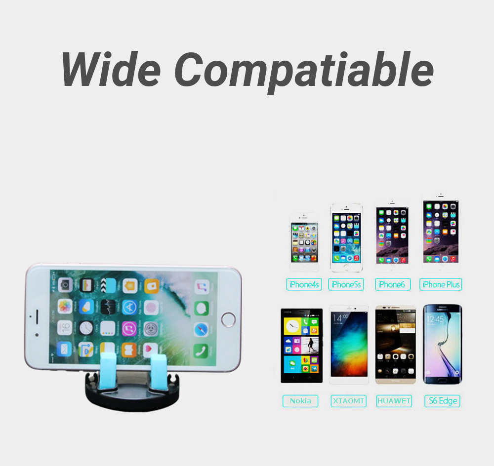 Multifunctional Car Dashboard Phone Holder 360° Rotatable Glasses Mount Stand for iPhone X