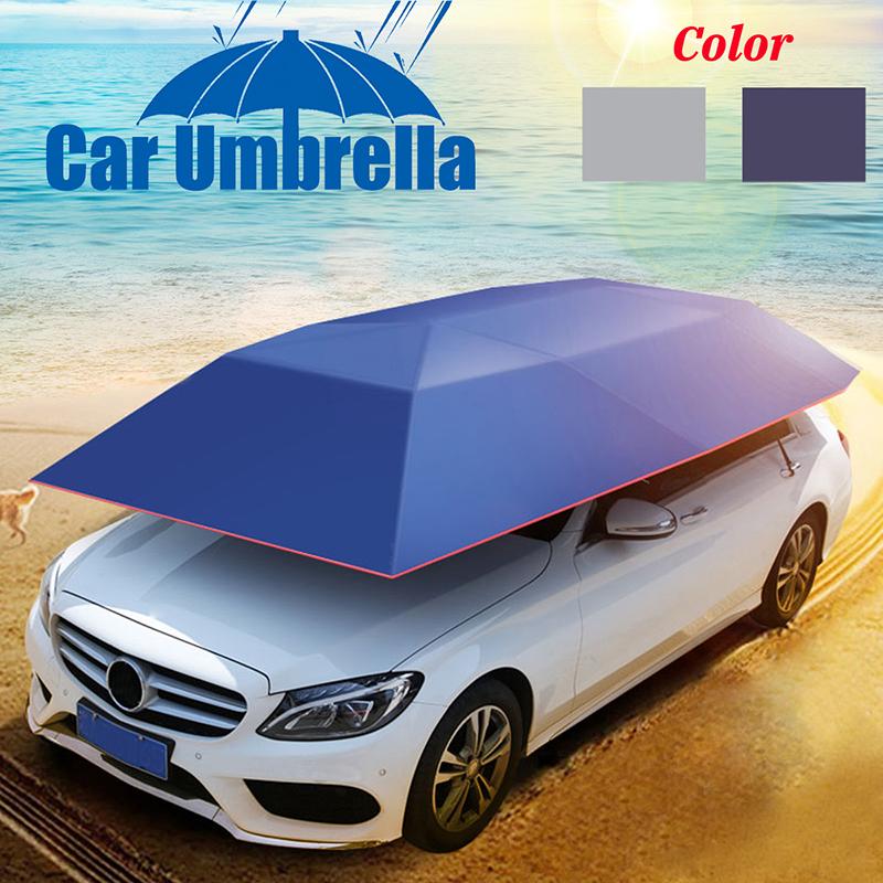 Car Tent Anti-UV Windproof Sun Shelter Portable Folded Car Canopy Cover Camping Car Umbrella