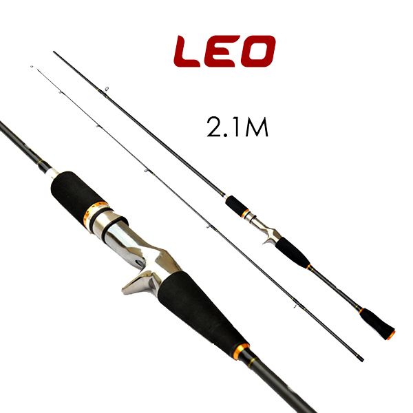 LEO 1.8M 2.1M Lure Carbon Casting Fishing Rod Travel Sea Fishing Pole