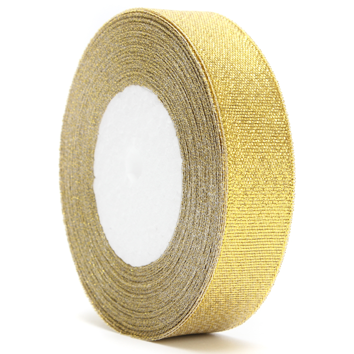 20mm 25 Yards Wire Edge Gold Silver glitter Effect Ribbon Wedding Party Gift Packing Accessories