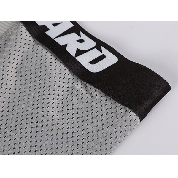Mens Quickly Dry Ice Silk Mesh Breathable Healthcare Boxers Casual Wide Waistband Underwear