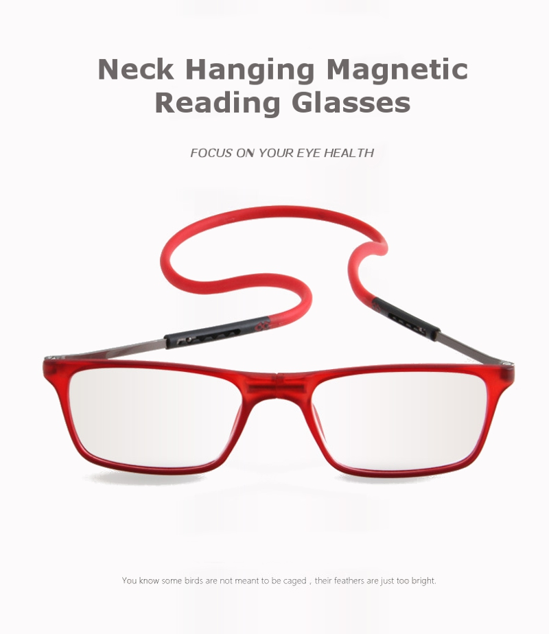 Magnetic Neck Hanging Unisex Reading Glasses Foldable Adjustable Presbyopic Glass