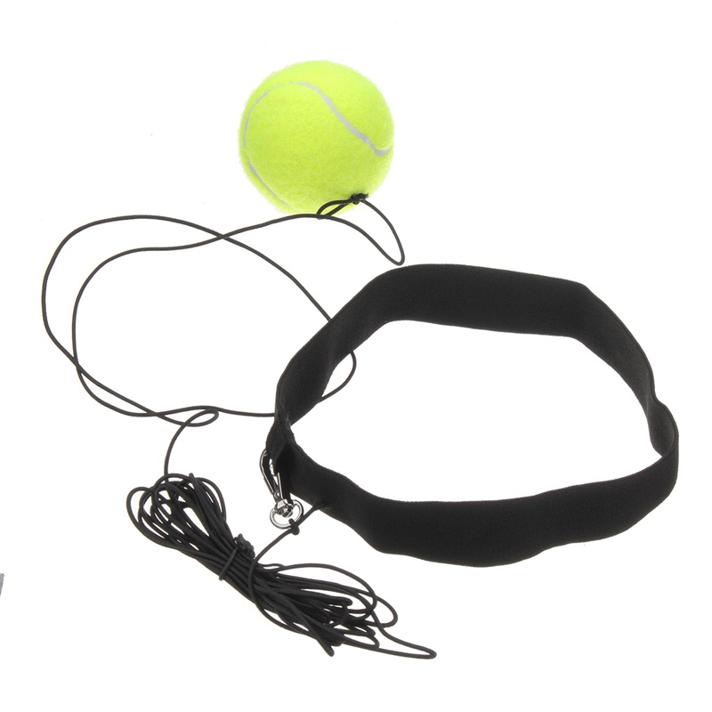 Yellow Boxing Equipment Head Band Fight Ball Boxing Punch Ball For Reflex Speed Training