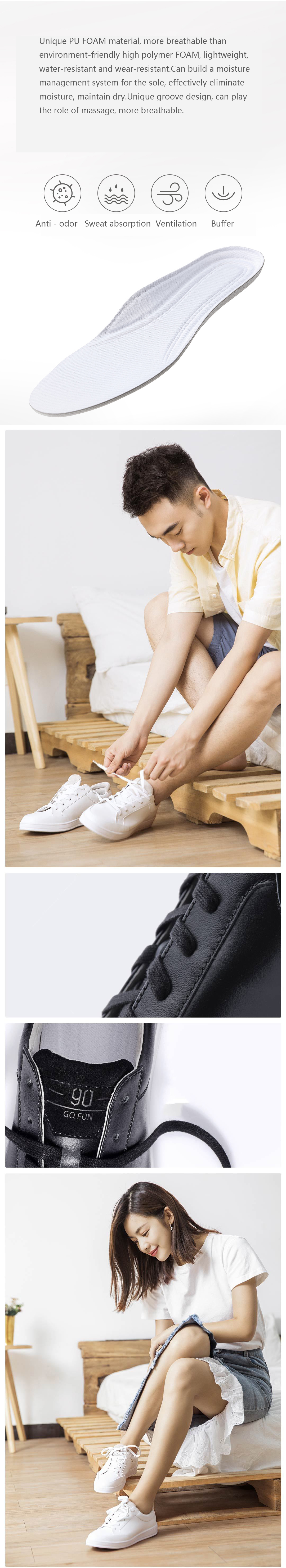 XIAOMI 90 FUN Men Leisure Genuine Sport Lace-up Leather Breathable Casual Board Shoes Sneakers