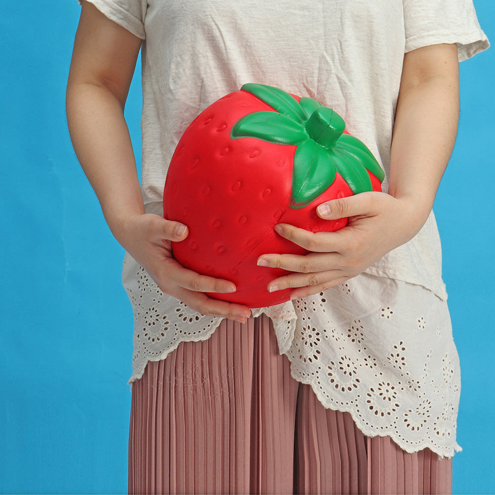 Huge Strawberry Squishy Jumbo 25*20CM Fruit Slow Rising Soft Giant Toy Gift Collection With Packag