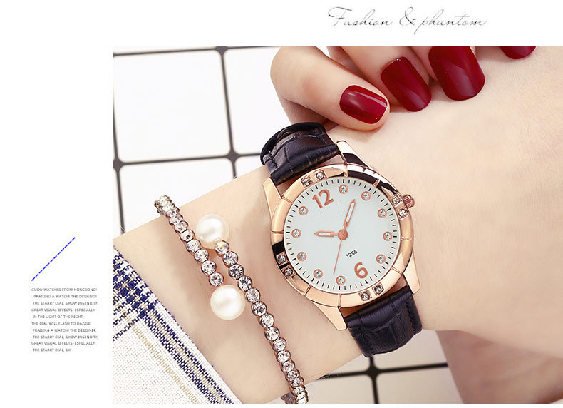 Deffrun Elegant Design Luminous Display Women Wrist Watch