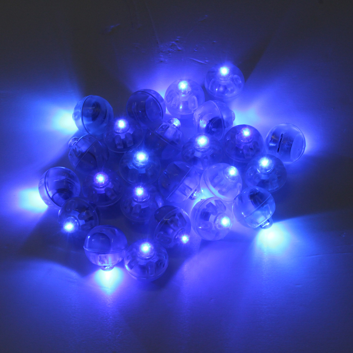25pcs 1.7cm Round LED Balloon Light Lamp Glowing Balloon Lights Birthday Wedding Party Decoration