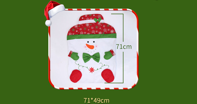 Skidding Christmas Snowman Chair Cover Skiing Style Event Party Christmas Decor Dinner Chairs Cover